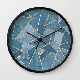 Dusk Blue Stone Wall Clock