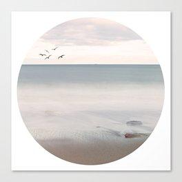 Sip of Summer Ocean Seaside Beach Neutral Postcards Fine Art Prints Gifts Canvas Print
