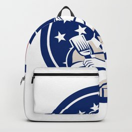 American DIY Expert USA Flag Icon Backpack