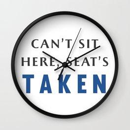 Seat's Taken Wall Clock