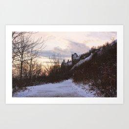 Scarborough Bluffs in Winter on December 27th, 2020. XX Art Print