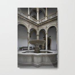 Spanish Patio with Moorish Fountain Metal Print