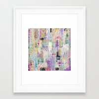 flora bowley Framed Art Prints featuring Whisper Truth Original Painting by Flora Bowley by Flora Bowley