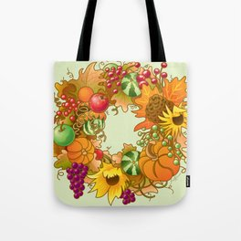 Fall Wreath Tote Bag