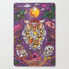 King of owl Cutting Board