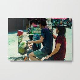 Family in Bangkok Metal Print