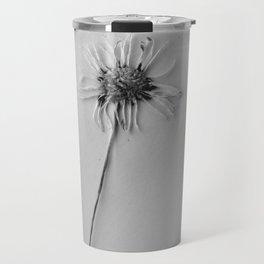 black and white daisy Travel Mug