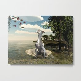 The birth of a greyhound Metal Print