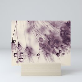 dandelion aubergine Mini Art Print