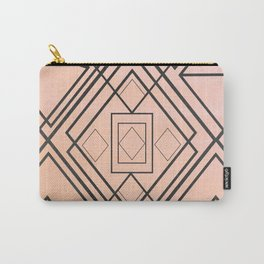 Modern coral gray watercolor ombre geometrical Carry-All Pouch