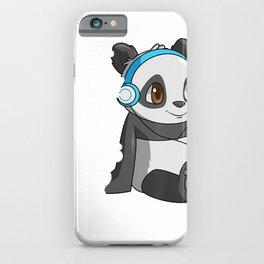 I Just Really Like Pandas Ok Gift Kids Boys Girls Cute Panda T-Shirt iPhone Case