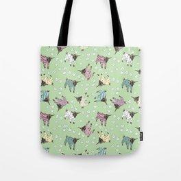 Pajama'd Baby Goats - Green Tote Bag