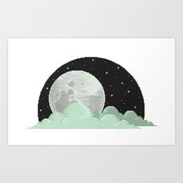 Lone Moon Art Print
