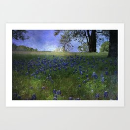A field of Blue Art Print