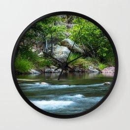Photos California USA Kern River Nature stone Rivers river Stones Wall Clock