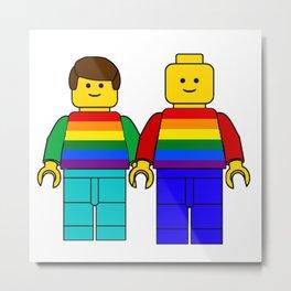 LGBT Pride Season Mini Figures Rainbow Flag Metal Print