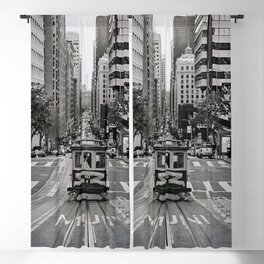 San Francisco in Black and White Blackout Curtain