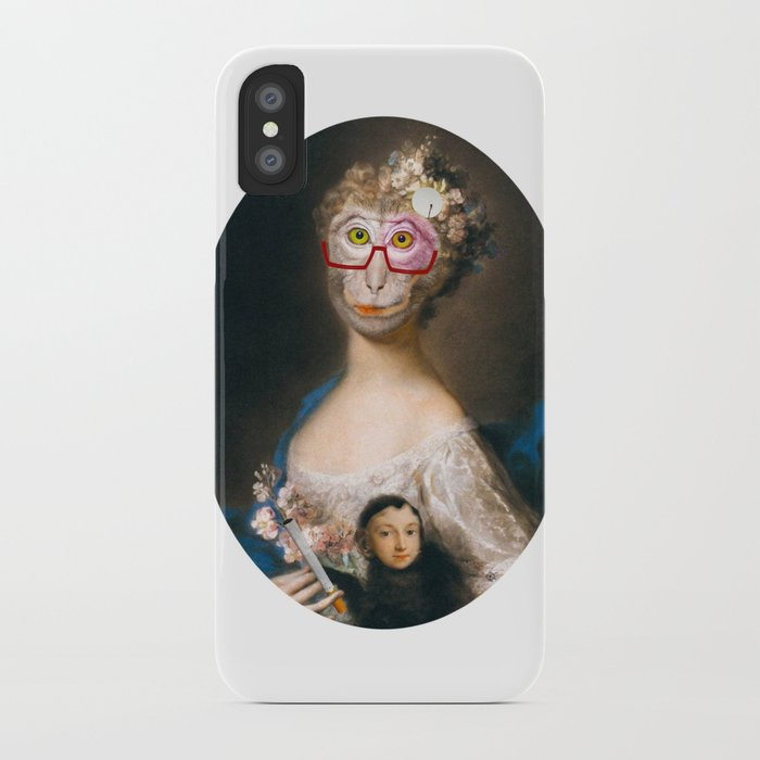 Rosalba Carriera - Young Woman with an Ape? iPhone Case