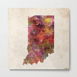 Indiana map Metal Print