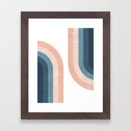 70s Rainbow Framed Art Print