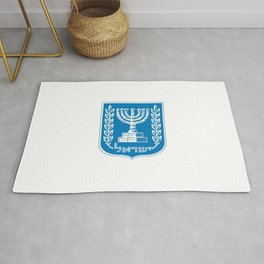 emblem of Israel 1-יִשְׂרָאֵל ,israeli,Herzl,Jerusalem,Hebrew,Judaism,jew,David,Salomon. Rug