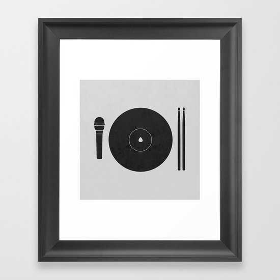 hungry to rock Framed Art Print