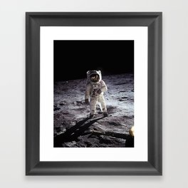 Buzz Aldrin on the Moon Framed Art Print
