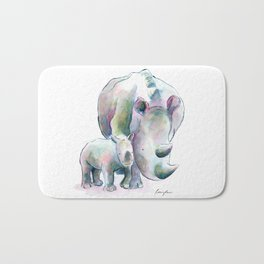 Rhino & Baby Bath Mat