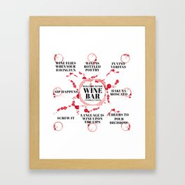 wine bar quote collection Framed Art Print
