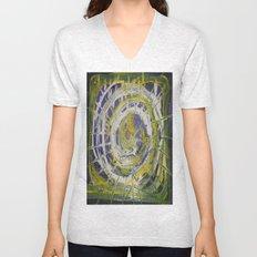 Earth Goddess Abstract Art Unisex V-Neck