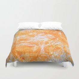 French Twist Orange Duvet Cover