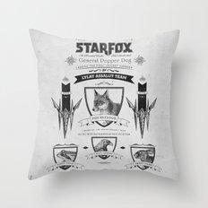 Star Fox Vintage Poster Geek Line Artly Throw Pillow