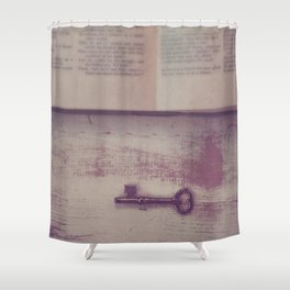 Book and Key Shower Curtain