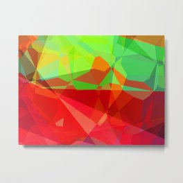 Mixed Color Poinsettias 2 Abstract Polygons 3 Metal Print