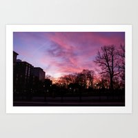 Boston Common Sunset Art Print
