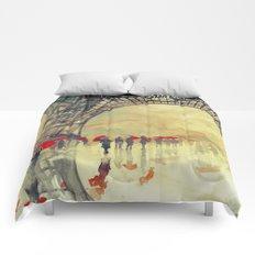 Winter in Paris Comforters