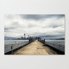View from Liberty Island Pier Canvas Print