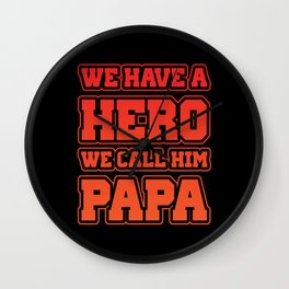 Dad Cool Daddy Dad Brother Sister Wall Clock