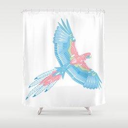Robot Parrot Shower Curtain
