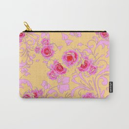 PINK-RED ROSE ABSTRACT FLORAL GARDEN ART Carry-All Pouch