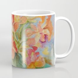 Nasturtiums Flowers in the garden Hot colors Floral painting Coffee Mug