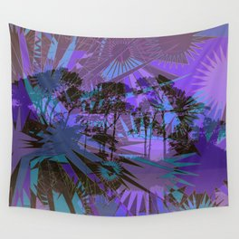 Blue Sunrise Wall Tapestry