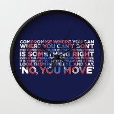 Civil War Quote Wall Clock