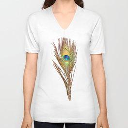 Peacock Feathers Invasion - Wave Unisex V-Neck