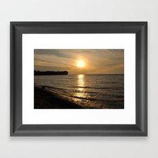 Hanford Bay, New York Framed Art Print