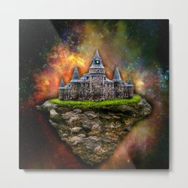 Castle In Space Metal Print