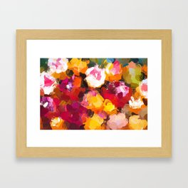 Delicious Floral Framed Art Print