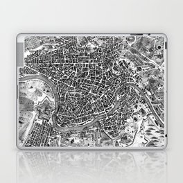 Vintage Map of Rome Italy (1721) BW Laptop & iPad Skin