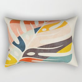 shape leave modern mid century Rectangular Pillow