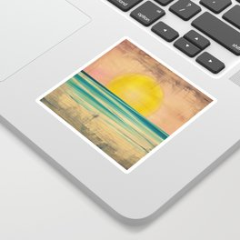 Ocean Sunset 1.0 Vintage Sticker